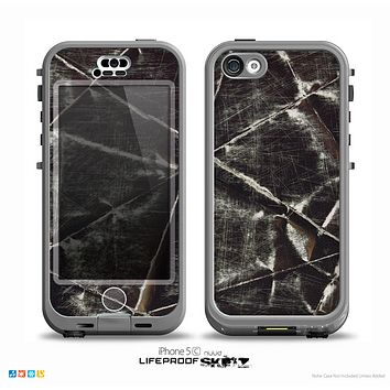 The Black Torn Woven Texture Skin for the iPhone 5c nüüd LifeProof Case