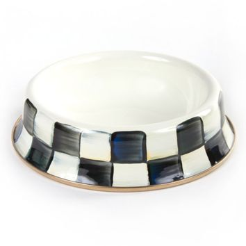 MacKenzie-Childs - Courtly Check Enamel Cat Dish