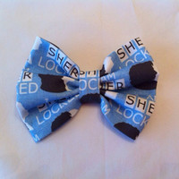 Sherlock Inspired Fabric Hair Bow, BBC, I Am Sherlocked