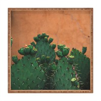 Catherine McDonald New Mexico Prickly Pear Cactus Square Tray | DENY Designs Home Accessories