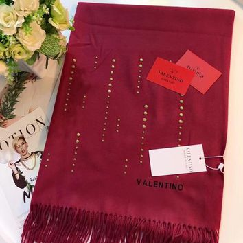 Valentino Women Fashion Wool Warm Scarf Scarves