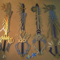 4 ULTIMA KEYBLADES kingdom hearts METAL !! key blade