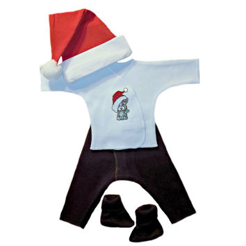 Unisex Baby Puppy's First Christmas Clothing Set