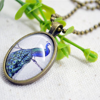 Peacock necklace,queen peacock pendant necklace