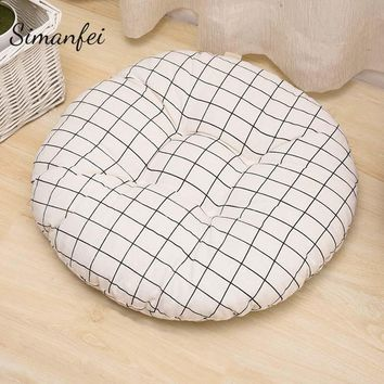 Simanfei Seat Cushion 2017 New Cotton Linen Throw Pillows Floor Pouf Round Soft Chair Almofada Rural Style Futon mat Cojines