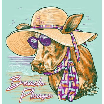 Sassy Frass Beach Please Heifer Girlie Bright T Shirt