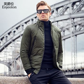 Cotton Padded Jacket coat Men Parka black 2 color solid coat Thick Quilted fashion Coat Men
