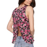Kirra Drape Back Musclette Tank - Womens Shirts - Pink - Medium