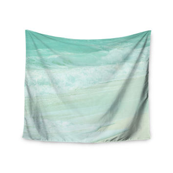 "Monika Strigel ""Paradise Beach Mint"" Teal Green Wall Tapestry"
