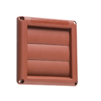 "KB EX007T 100MM/4"" GRAVITY SHUTTER - TERRACOTTA"