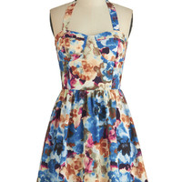 ModCloth Mid-length Halter A-line Chic by the Creek Dress