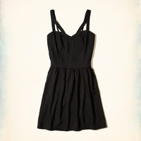 Girls Strappy Rayon Skater Dress | Girls New Arrivals | HollisterCo.com