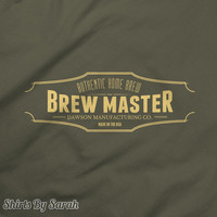Personalized Brewmaster T-Shirt Beer TShirts Custom Home Brewing Shirts Men's Women's Brew