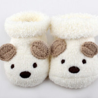 Brown Bear Booties | Newborn