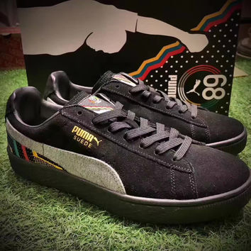 """simpleclothesv  """"PUMA"""" Women Man SUEDE BHM JERSEY MID Trending Fashion Casual  Sports Shoes 36-44"""