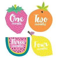 Little Fruits Monthly Milestone Stickers
