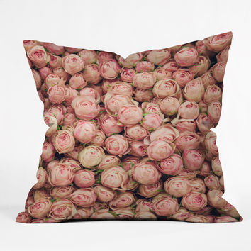 Catherine McDonald Flower Market 2 Outdoor Throw Pillow