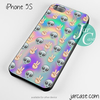 Psychedelic Alien Emoji Pattern Phone case for iPhone 4/4s/5/5c/5s/6/6 plus