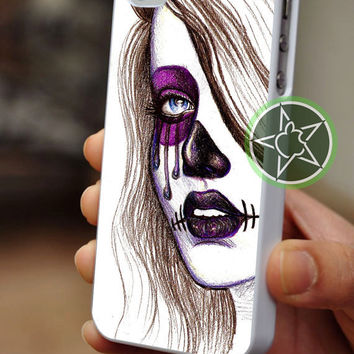 Day of The Dead Girl Art - iPhone 4 / iPhone 4S / iPhone 5 / Samsung S2 / Samsung S3 / Samsung S4 Case Cover