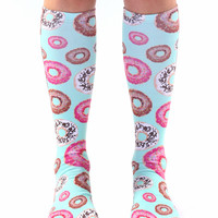 Donuts Knee High Socks