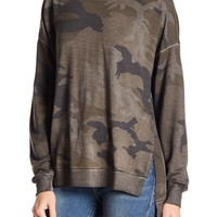 Dantelle | Camo Side Slit Sweater | Nordstrom Rack