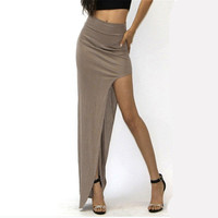 Side Split Skirt Long Maxi Skirt