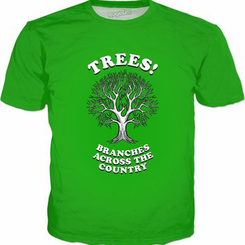 Trees - Branches Across The Country T-Shirt - Funny Nature