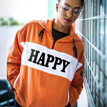 Women's Fashion Christmas Hoodies Zippers Hats Alphabet Patchwork Windbreaker [510295670838]