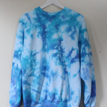 tie dye ocean sweatshirt jumper 90s grunge by Dirty Saint
