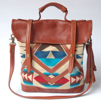 Leather And Pendleton Tote The Coastal Bag