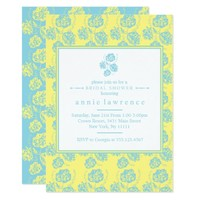 Modern, Chic Floral Bridal Shower Invitations