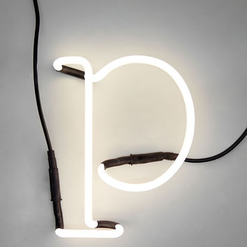 "Neon Letter Lamp ""p"" And Accessories"
