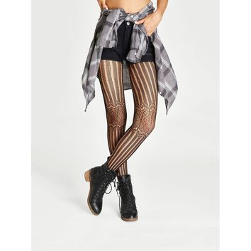 Netted Lace Tights