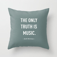 6 colours, Jack Kerouac MUSIC Quote Pillow Cover, Home decor, Cushion cover, Sage Green Decorative Pillow Cover, Sage Green Pillow Cover