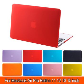 Clear Crystal Matte Rubberized Hard Case Cover for Macbook Pro 13.3 15.4 Pro Retina 12 13 15 inch Macbook Air 11 13 Laptop Shell
