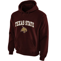 Texas State Bobcats Midsize Arch Pullover Hoodie - Maroon
