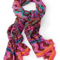 Colorful Tribal Print Fashion Scarf | Frida Print Union Square Scarf | Stella & Dot