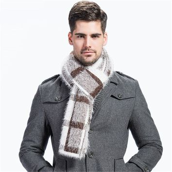Winter Men Plaid Scarf High Fashion Men's Shawls And Capes Classical Warm Men's Wrap New Scarf