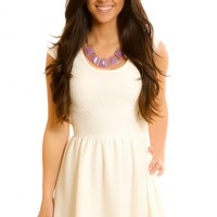 Give A Little Twirl Dress-Ivory