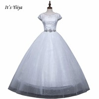 Free shipping 2015 new bridal wedding dress pure white princess wedding dress lace fashion wedding gown Vestidos De Novia XXN005
