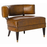 Arteriors Home Laurent Glazed Top Grain Leather/Solid Wood Chair - Arteriors Home 2996