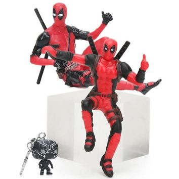 Deadpool Dead pool Taco 4-7cm Marvel Toys Black Panther Ironman Keychain Superhero  Sitting Yamaguchi Style Figure Superheroes Model Dolls Toy AT_70_6
