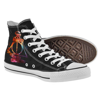 Deadly hollows logo,High Top,canvas shoes,Painted Shoes,Special Christmas Gift,Birthday gift,Men Shoes,Women Shoes