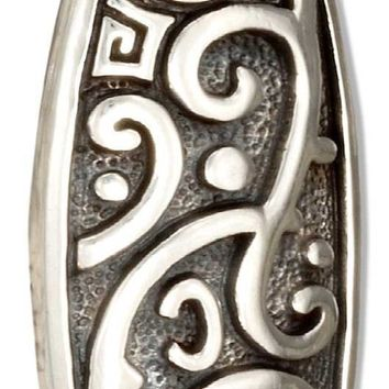 Sterling Silver Marquise Shape Celtic Maori Scrolled Surfboard Pendant