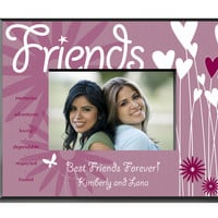 Heart and Flowers Frame - Friends
