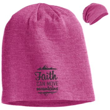 Faith Can Move Mountains Slouch Beanie