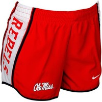 Nike Mississippi Rebels Ladies Cardinal Pacer Performance Shorts
