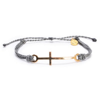 Pura Vida Cross Grey Bracelet