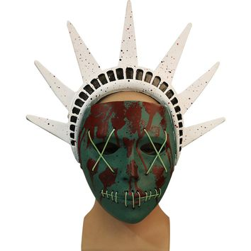 Cos The Purge 3 Mask Cosplay Statue of Liberty Mask Ron Hard Resin Election Year Mask New Halloween Party