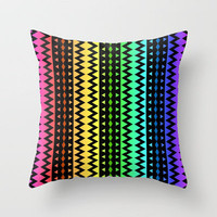 The Rainbow Tribe Throw Pillow by Lyle Hatch | Society6